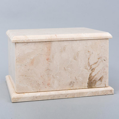 Evermore Rectangle Marble Cremation Urn in Champagne