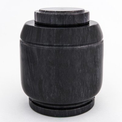 Crest Marble Cremation Urn in Black
