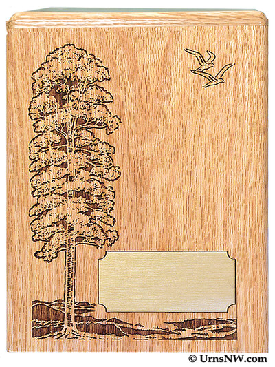 Tree Scene Funeral Urn