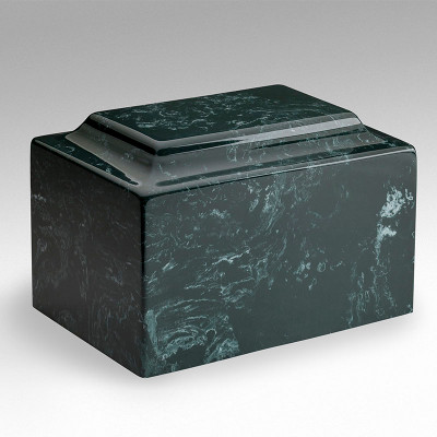 Classic Cultured Marble Urn in Evergreen