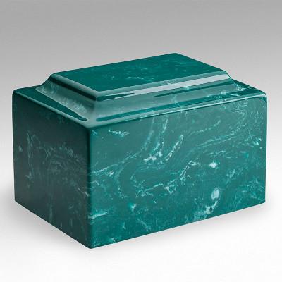 Classic Cultured Marble Urn in Jade