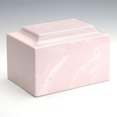 Classic Cultured Marble Urn in Pink