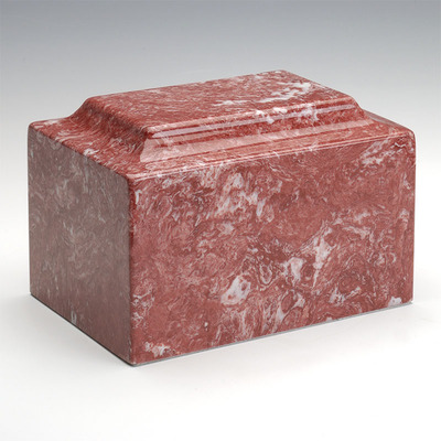 Classic Cultured Marble Urn in Rose