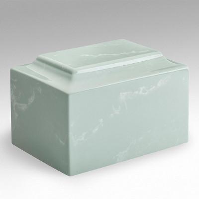 Classic Cultured Marble Urn in Seafoam Green
