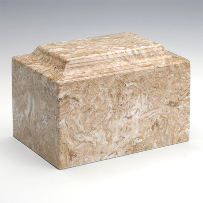 Classic Cultured Marble Urn in Syrocco