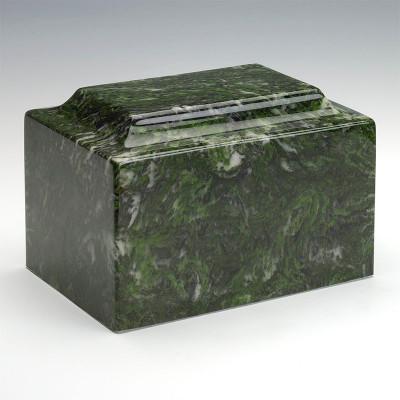 Classic Cultured Marble Urn in Verde
