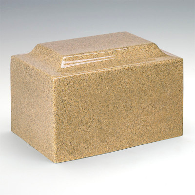 Classic Cultured Granite Urn - Golden Sand