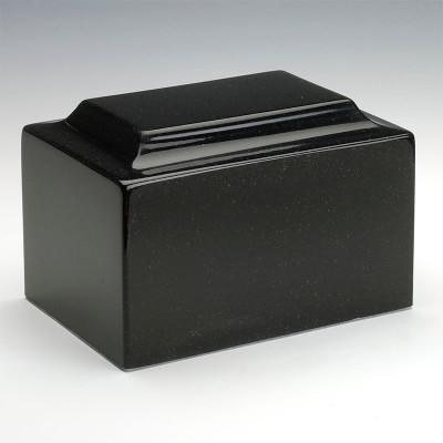 Classic Cultured Granite Urn in Orca Black