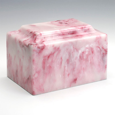 Classic Cultured Onyx Cremation Urn in Ruby