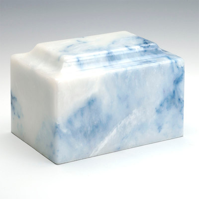 Classic Cultured Onyx Cremation Urn in Sapphire Blue