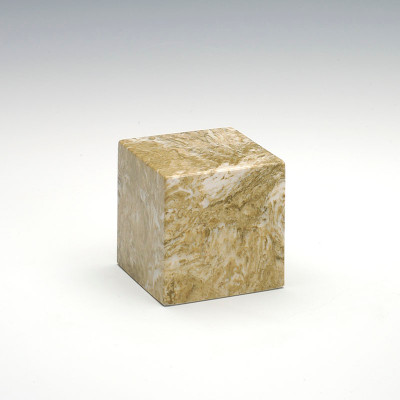 Small Cube Cultured Marble Urn in Neptune