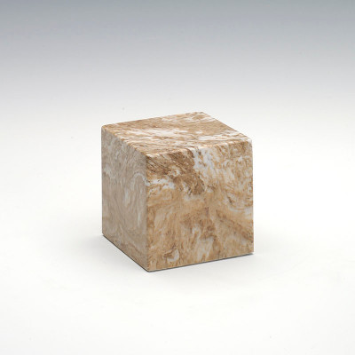 Small Cube Cultured Marble Urn in Syrocco