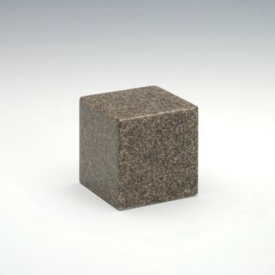 Small Cube Cultured Granite Urn in Kodiak Brown