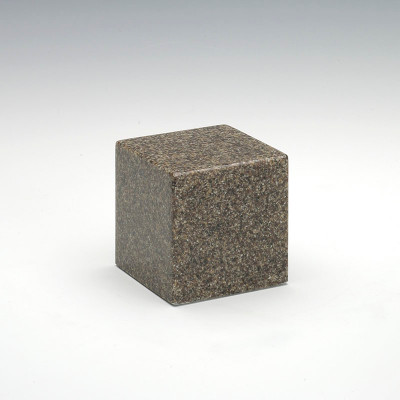 Small Cube Cultured Granite Urn in Kodiak Brown