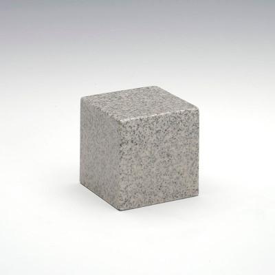 Small Cube Cultured Granite Urn in Mist Gray
