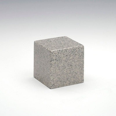 Small Cube Cultured Granite Urn in Mist Gray