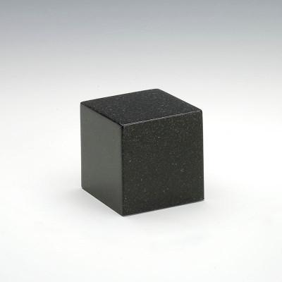 Small Cube Cultured Granite Urn in Orca Black