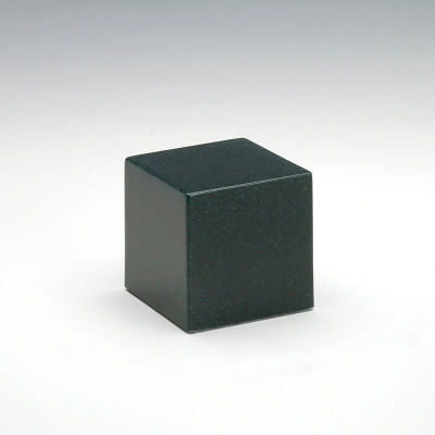 Small Cube Cultured Granite Urn in Sea Holly Green