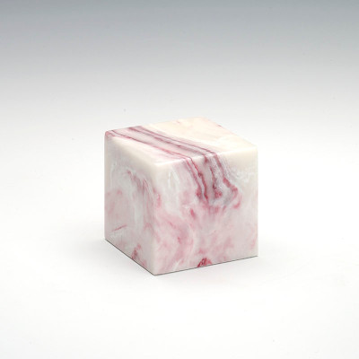 Small Cube Cultured Onyx Urn in Ruby