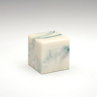 Small Cube Cultured Onyx Urn in Teal