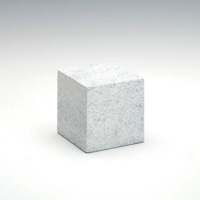Small Cube Stone-Tone Cultured Marble Urn in Granitone