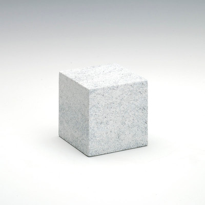 Small Cube Stone-Tone Cultured Marble Urn in Granitone