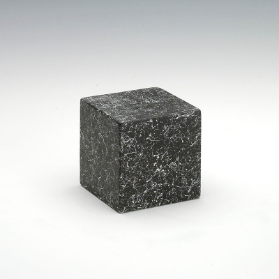 Small Cube Stone-Tone Nocturne Cultured Marble Urn in Nocturne