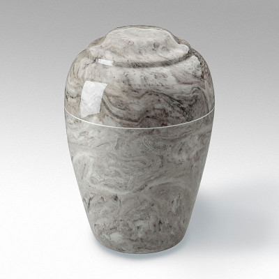 Grecian Cultured Marble Urn in Cashmere Gray