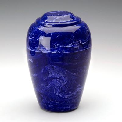 Grecian Cultured Marble Urn in Cobalt
