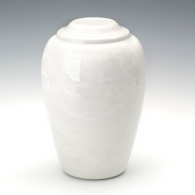 Grecian Cultured Marble Urn in Glacial White