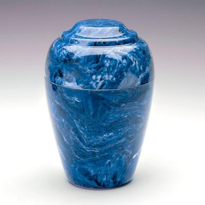 Grecian Cultured Marble Urn In Mystic Blue
