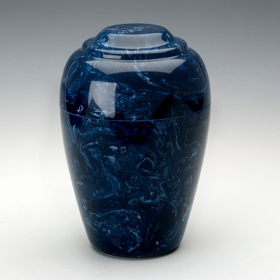 Grecian Cultured Marble Urn in Navy