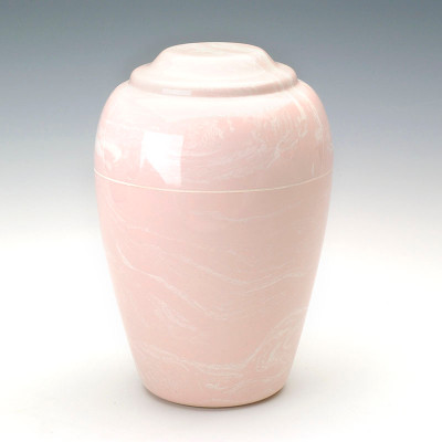 Grecian Cultured Marble Cremation Urn in Pink
