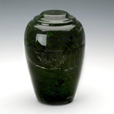 Grecian Cultured Marble Urn in Verde