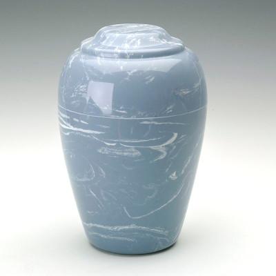 Grecian Cultured Marble Urn in Wedgewood