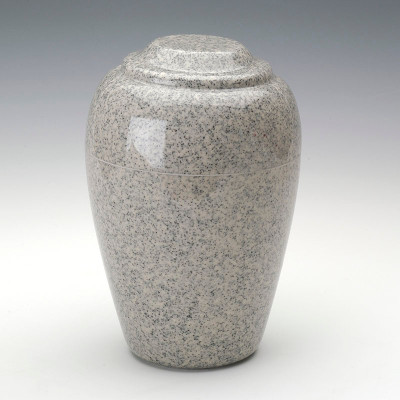 Grecian Cultured Granite Urn in Mist Gray