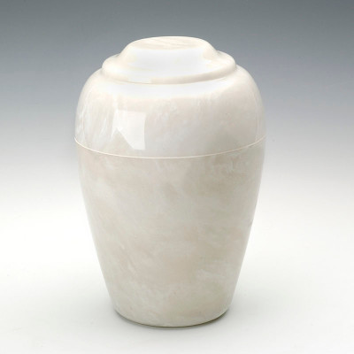 Grecian Cultured Onyx Cremation Urn in Pearl