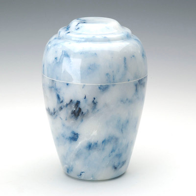 Grecian Cultured Onyx Cremation Urn in Sapphire