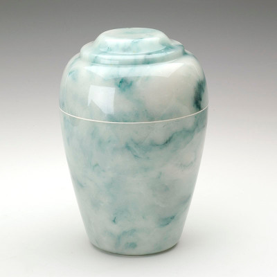 Grecian Cultured Onyx Cremation Urn in Teal