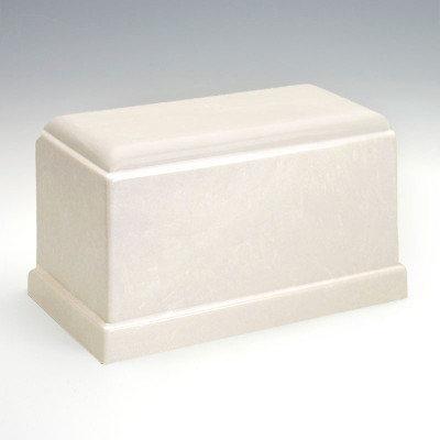 Olympus Cultured Marble Urn in White