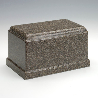 Olympus Cultured Granite Urn in Kodiak Brown