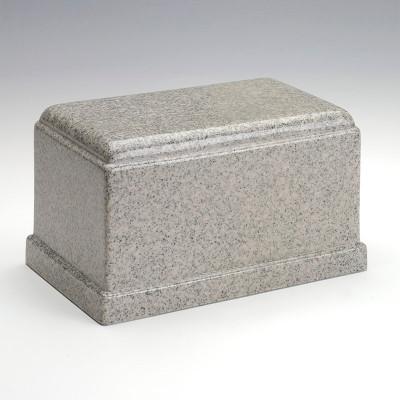 Olympus Cultured Granite Urn in Mist Gray