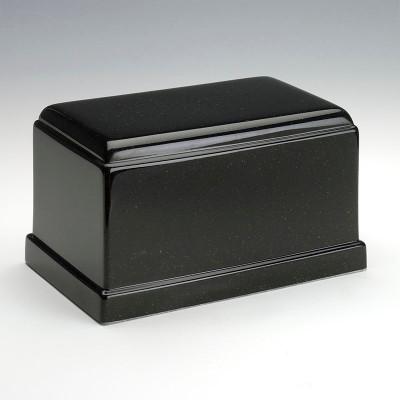 Olympus Cultured Granite Urn in Orca Black