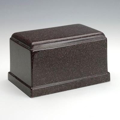 Olympus Cultured Granite Urn in Vintage Red