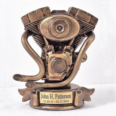 Motorcycle Engine Urn (Bust)