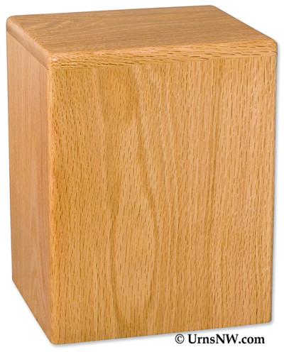 Simplicity Vertical Budget Urn - Oak