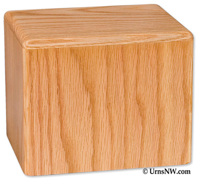 Pet Cremation Urn - Oak Wood