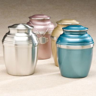 Pewter Cremation Urn - Silverado Metal Urn