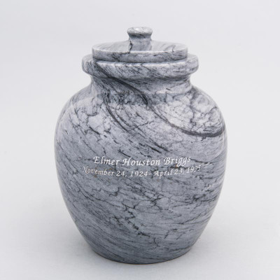 Gray Legacy Marble Urn with Engraving