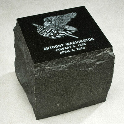 Garden Stone Granite Urn for Ashes